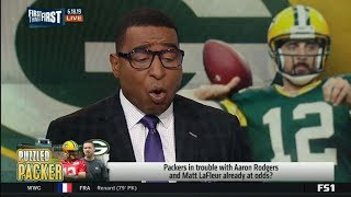 FIRST THINGS FIRST | Packers in trouble with Aaron Rodgers and Matt LaFleur already at odds?
