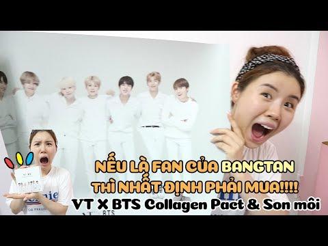 Nếu là fan của BANGTAN thì nhất định phải mua!!! VT X BTS Collagen Pact & Son môi