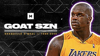 Shaquille O'Neal 99-00 Season Highlights - Most Dominant Ever! | GOAT SZN
