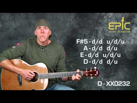 Learn super EZ beginner song Seether Fine Again acoustic guitar lesson with chords strum patterns