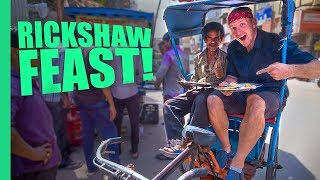 LOCAL Indian Food! - Asking RICKSHAW Drivers Where to Eat in Delhi, INDIA!