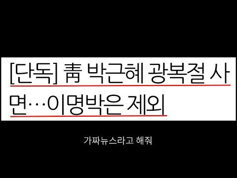 국민정서 통합 = 박근혜 사면, 청와대의 결단?