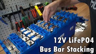 12V Raw Cell LiFePO4 Bus bar Stacking Tutorial for Current Sharing