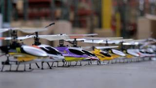 Flying 12 RC Helicopters at the same time