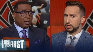 Nick and Cris discuss Baker's league-leading 25 INTs, Browns struggles | NFL | FIRST THINGS FIRST