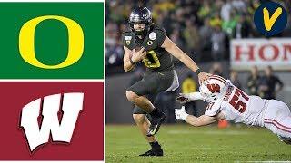#6 Oregon vs #8 Wisconsin Highlights   2020 Rose Bowl Highlights   College Football