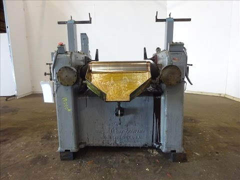 Used- J.H. Day, Horizontal Three Roll Dispersion Mill - stock # 48333001