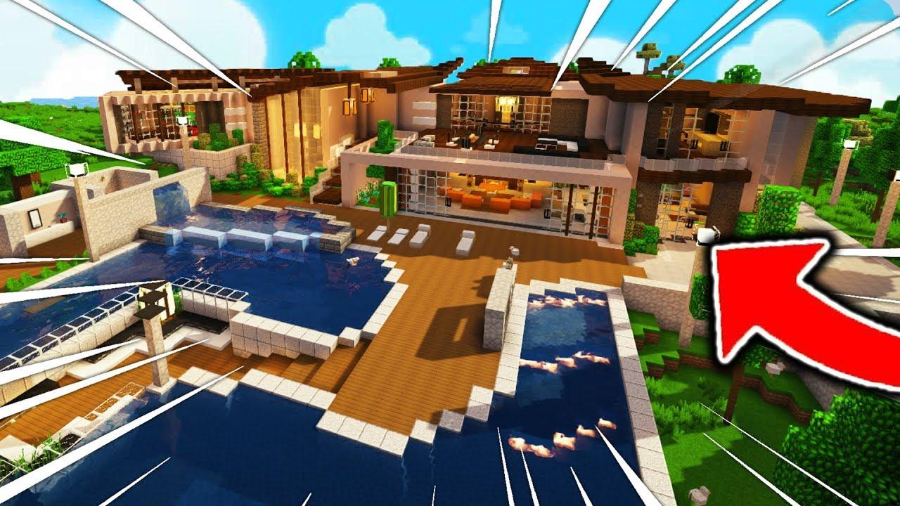 Visite De Ma Maison Et Bonus Terrasse Minecraft Video