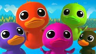 cinco patitos   canciones infantiles   poemas de bebe   Five Little Ducks   Nursery Rhymes