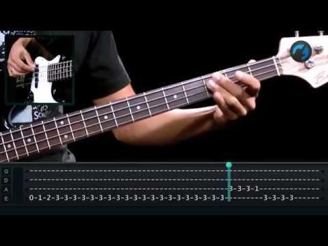Baixar Deep Purple - Smoke on the Water (como tocar - aula de contra-baixo)