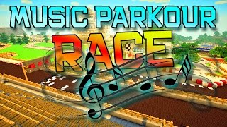 Minecraft: MUSIC SONG PARKOUR RACE!