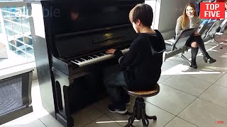 Top 5 Piano Airport Amazing and Beautiful Performances
