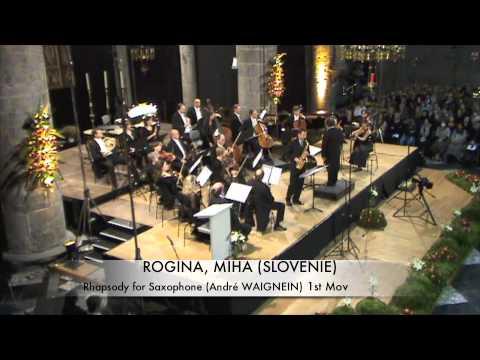 ROGINA, MIHA (SLOVENIE) Rhapsodie for Saxophone part 1