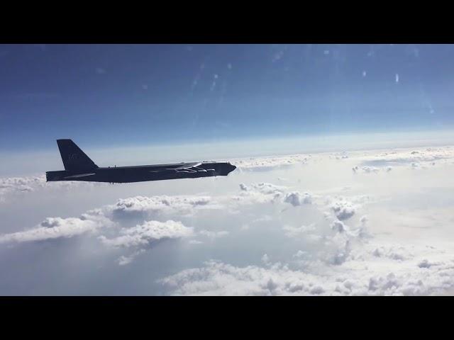 Перехват бомбардировщиков В-52Н ВВС США над Чёрным морем