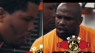 FLOYD MAYWEATHER NOT PLAYING WITH TANK DAVIS...SERIOUS ABOUT TRAINING HIM