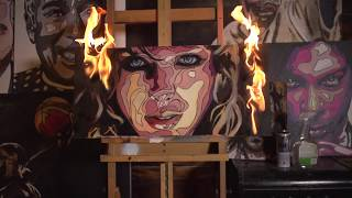 Taylor Swift || Fire Painting