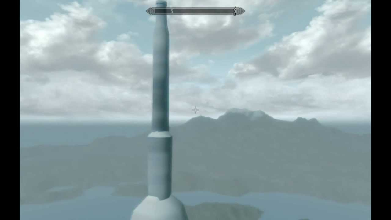White Gold Tower in Skyrim - YouTube
