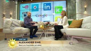 """""""Instagram kommer dö ut"""" - Alexander Bard spår om nätets framtid - Nyhetsmorgon (TV4)"""