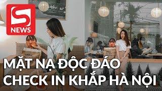 Cô gái hài hước mang chiếc mặt nạ độc đáo đi check in khắp Hà Nội