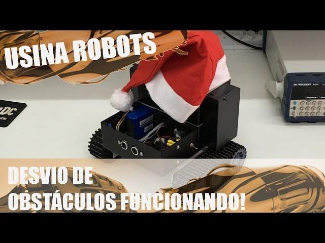 DESVIO DE OBSTÁCULOS FUNCIONANDO | Usina Robots US-2 #109