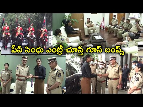Hyderabad City Police felicitated PV Sindhu for winning Bronze medal in Tokyo Olympics