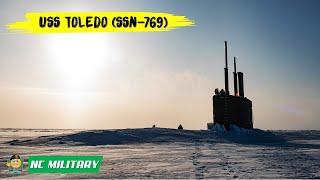 Submarine USS Toledo (SSN-769) Ice Breaking at Ice Camp Seadragon