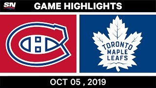 NHL Highlights | Canadiens vs. Maple Leafs – Oct. 05, 2019