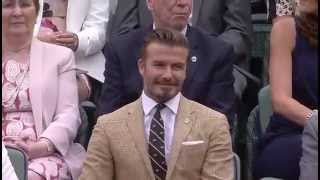 Beckham among sporting legends in Royal Box - Wimbledon 2014