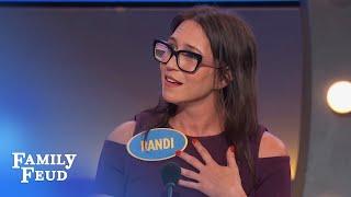 Steve has an EXTRA Q for Randi | Family Feud