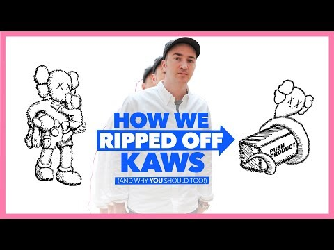 KAWS is a RIPOFF ARTIST. So We Ripped Him Off.