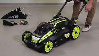 "Video: 40V 20"" BRUSHLESS SELF-PROPELLED MOWER WITH 5AH BATTERY & CHARGER"