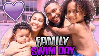 FAMILY VLOG | WE TOOK THE KIDS TO THE POOL