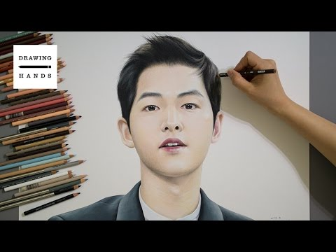 Speed Drawing Descendants of the Sun - Song joong ki [Drawing Hands]