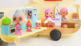 LOL Surprise Dolls + Lil Sisters Camping in Camper