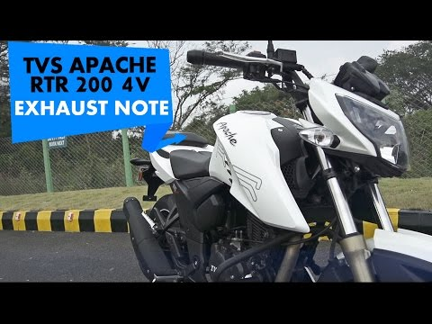 New TVS Apache RTR 200 4V Stock Exhaust Note : PowerDrift