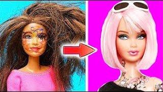 DIY Barbie Hair Transformations | Barbie Doll Hairstyles | Barbie Hairstyle Tutorial for Kids