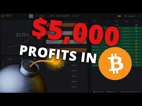 I Won 5,000 Dollars in Bitcoin Crash Gambling!