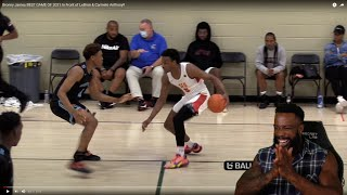 I LIKES THIS!! Bronny James BEST GAME OF 2021 In Front of LeBron & Carmelo Anthony!!