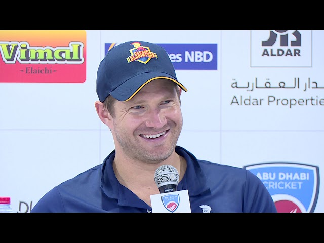 Winning captain of the Deccan Gladiators, Shane Watson speaks after T10 win over Bangla Tigers