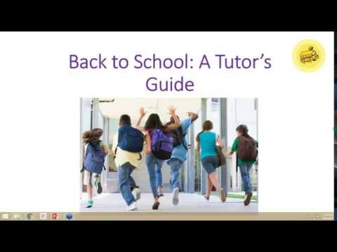 Back to School: A Tutor's Guide