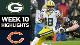 Packers vs. Bears | NFL Week 10 Game Highlights