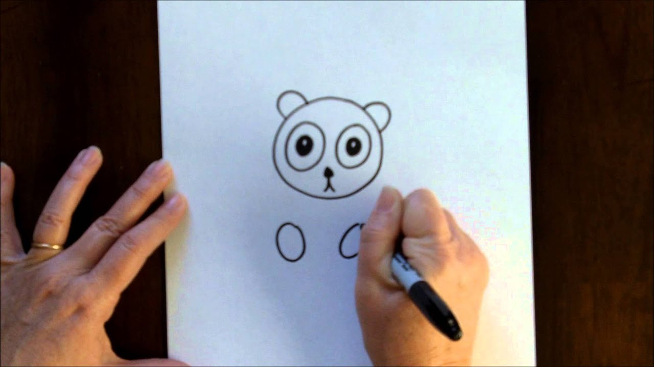 Free Art Lesson for Kids How to Draw a Cartoon Panda Bear ...