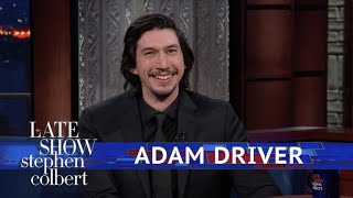 Adam Driver And Stephen Act Out A 'Star Wars' Scene Using Dolls