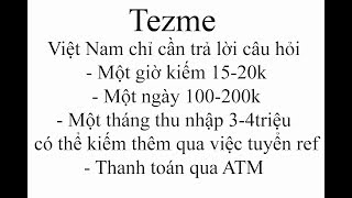 """Review """"tezme"""" Web chơi game kiếm tiền của người Việt đang hot nhất hiện nay"""