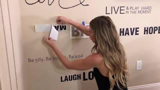 Wall Decals - DIY AFFIRMATIONS WALL DECOR HACK