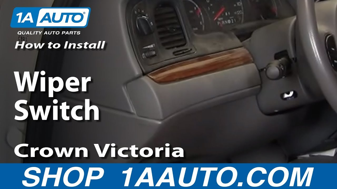 How To Install Replace Power Window Regulator Crown Victoria Grand