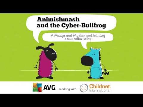 """Animishmash and the Cyberbullfrog"", The second in a series of free interactive e-books from AVG Technologies and the Magda & Mo characters."