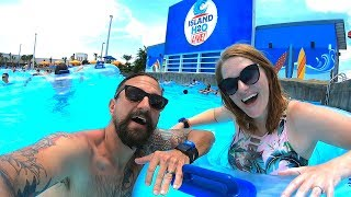 Water Park Fun On The First Day Of Summer At Island H2O Live!! | Water Slide POVs, Food & More!