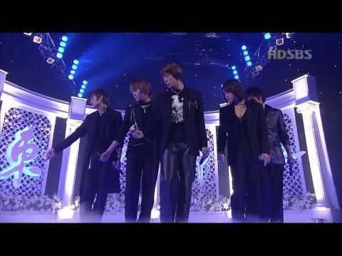 DBSK comeback - Tri-Angle + Miduhyo 믿어요 (inkigayo) 20041010