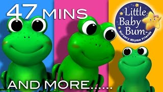 Five Little Speckled Frogs | Plus Lots More Nursery Rhymes | 47 Mins Compilation from LittleBabyBum - YouTube